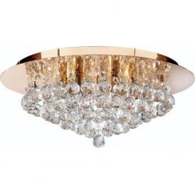 3406-6GO Hanna 6 Light Semi-Flush Ceiling Light Gold