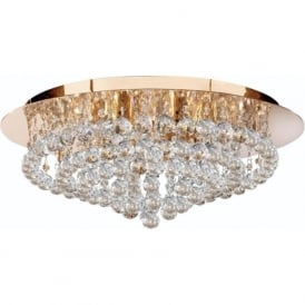 3408-8GO Hanna 8 Light Modern Semi-Flush Ceiling Light Gold