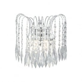 4172-2 Waterfall 2 Light Wall Light Polished Chrome