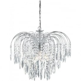 4175-5 Waterfall 5 Light Ceiling Pendant Polished Chrome