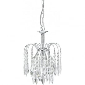 4271-1 Waterfall 1 Light Ceiling Pendant Polished Chrome