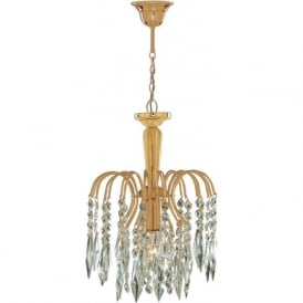 6271-1 Waterfall 1 Light Ceiling Pendant Gold