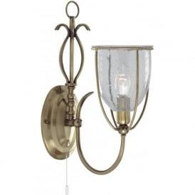 6351-1AB Silhouette 1 Light Wall Light Antique Brass