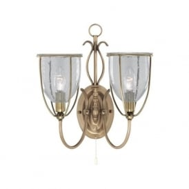 6352-2AB Silhouette 2 Light Wall Light Antique Brass