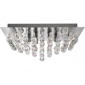 6404-4CC Hanna 4 Light Semi-Flush Ceiling Light Polished Chrome