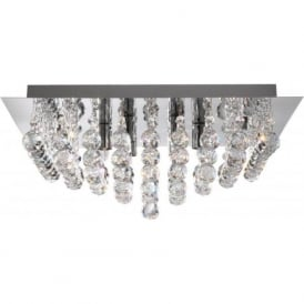 6406-6CC Hanna 6 Light Semi-Flush Ceiling Light Polished Chrome