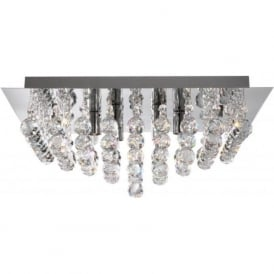 6408-8CC Hanna 8 Light Semi-Flush Ceiling Light Polished Chrome