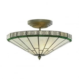 4417-17 New York 2 Light Ceiling Light Antique Brass