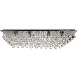 6728-8CC Hanna 8 Light Semi-Flush Ceiling Light Polished Chrome