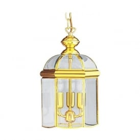 5133PB Lanterns 3 Light Ceiling Pendant Polished Brass