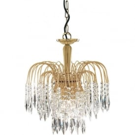 5173-3 Waterfall 3 Light Ceiling Pendant Gold