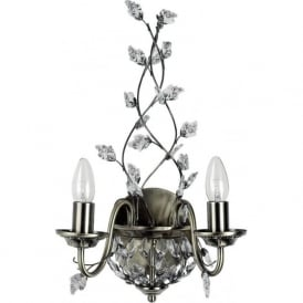 2092-2AB Marquette 2 Traditional Wall Light Antique Brass