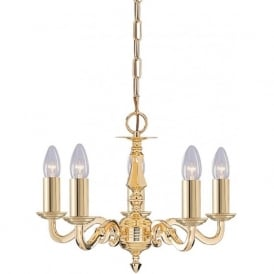 2175-5NG Seville 5 Light Ceiling Light Polished Solid Brass