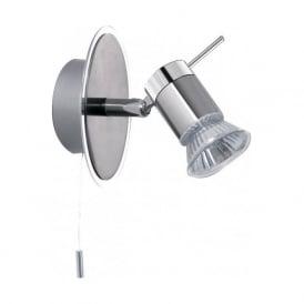 7441CC Aries 1 Light Wall Spotlight Polished Chrome