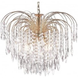 5175-5 Waterfall 5 Light Ceiling Pendant Gold