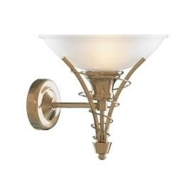 5227AB  Linea 1 Light Wall Light Antique Brass