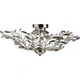 5256-6AB Lima 6 Light Semi-Flush Ceiling Light Antique Brass
