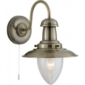 5331-1AB Fisherman 1 Light Wall Light Antique Brass