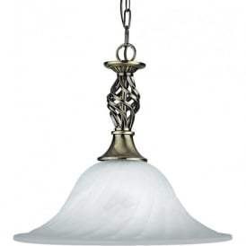 4581-14AB Cameroon 1 Light Ceiling Pendant Antique Brass