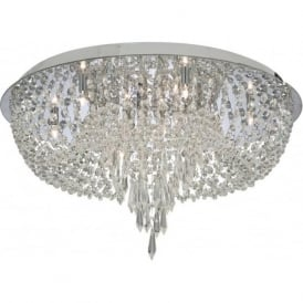 5541CC Bijoux 10 Light Semi-Flush Ceiling Light Polished Chrome