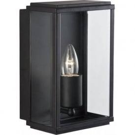 8204BK Outdoor Lighting 1 Light Modern Outdoor Wall Light Black Finish With Glass IP44 Rated