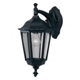 82531BK Alex 1 Light Outdoor Lantern Wall Light IP44 Rated Cast Aluminium Alchromated Black