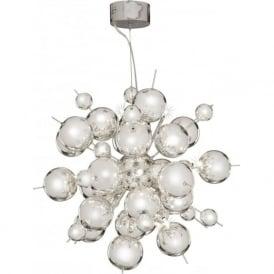 8312-12CC Molecule 12 Light Ceiling Pendant  Polished Chrome