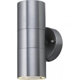 5008-2-LED Park Lane 2 Light Outdoor & Garden Wall Light Stainless Steel Finish With Polycarbonate Diffuser IP44
