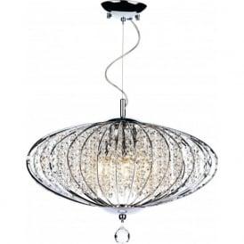 ADR0550 Adriatic 5 Light Ceiling Pendant Polished Chrome