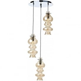 ROD0320 Rodeo 3 Light Ceiling Pendant Polished Chrome