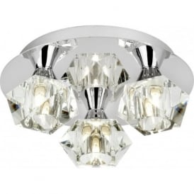 ARIETTA-3PCH Arietta 3 Light Semi-Flush Ceiling Light Chrome