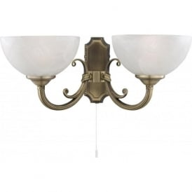 3772-2AB Windsor 2 Light Wall Light Antique Brass