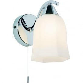 96961-WBCH Alonso 1 Light Switched Wall Light Chrome