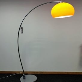 LRFLOORORANGE 1 Light Modern Floor Lamp Orange And Polished Chrome