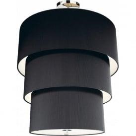 ZAR2322 Zaragoza 3 Tier 12 Light Black Ceiling Pendant