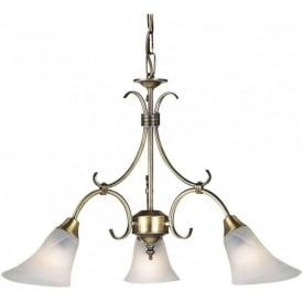 144-3AN Hardwick 3 Light Ceiling Light Antique Brass