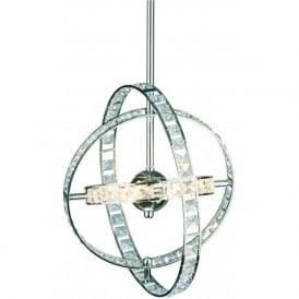 ETE6450 Eternity 6 Light Crystal Ceiling Pendant Polished Chrome