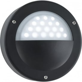 8744BK Outdoor 36 Light LED Wall Light Black IP44