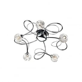 ZEL5450 Zelda 5 Light Ceiling Light Polished Chrome