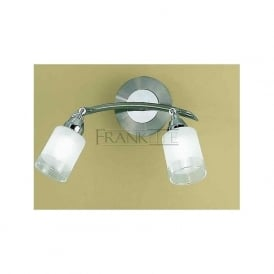 DP40022 Campani 2 Light Wall Light Satin Nickel and Chrome