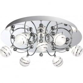 8657-7CC Bauble 7 Light Ceiling Light Polished Chrome