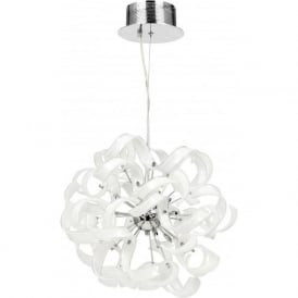 FONDA-9WH Fonda 9 Light Ceiling Pendant White Glass