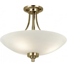 WELLES-3AB Welles 3 Light Ceiling Light Antique Brass