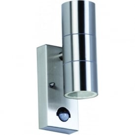 EL-40062 Canon PIR 2 Light Outdoor Wall Light Stainless Steel IP44