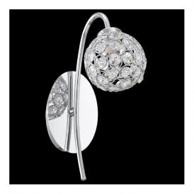 92568 Beramo1 1 Light Wall Light Chrome Clear Crystal
