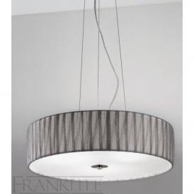 FL2284/4 FL2284EL/418 Lucera 4 Light Ceiling Pendant Translucent Silver
