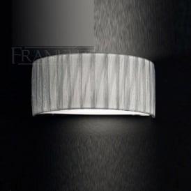 FL2283/1 FL2283EL/118 Lucera 1 Light Wall Light Translucent Silver