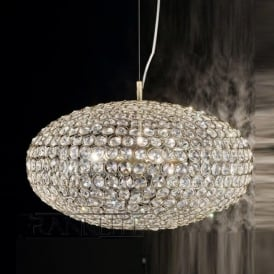 FL2274/8 Marquesa 8 Light Crystal Ceiling Pendant Bronze