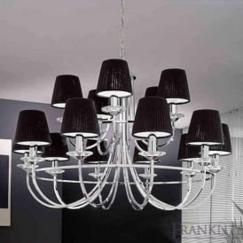 FL2146/15 Carousel 15 Light Ceiling Light Polished Chrome