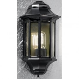 LA1610-1 Boulevard 1 Light Outdoor Wall Light Italian Matt Black IP44